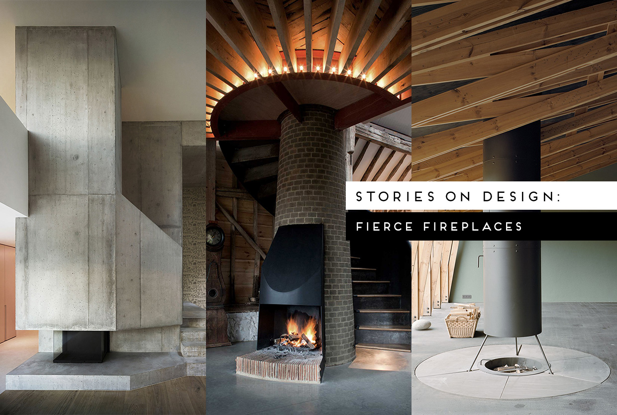Fierce Fireplace Design Curated by Yellowtrace