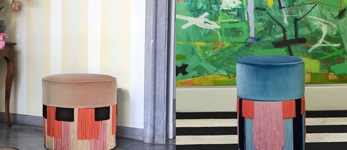 Lorenza Bozzoli Presents Couture Pouf for Luisa Via Roma Home | Yellowtrace