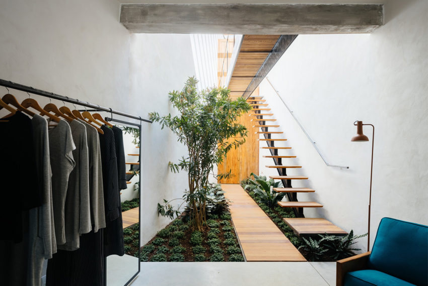 Retail Store With an Indoor Garden in São Paulo, Brazil by Vão