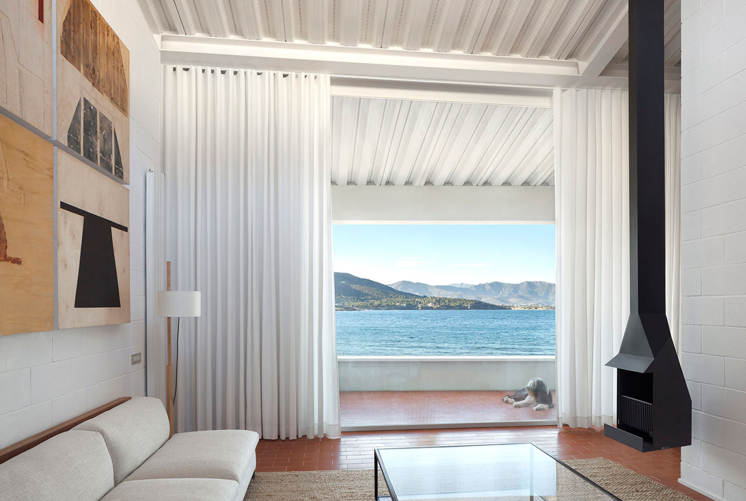 Seafront House in Port de la Selva Spain by OAB   Yellowtrace