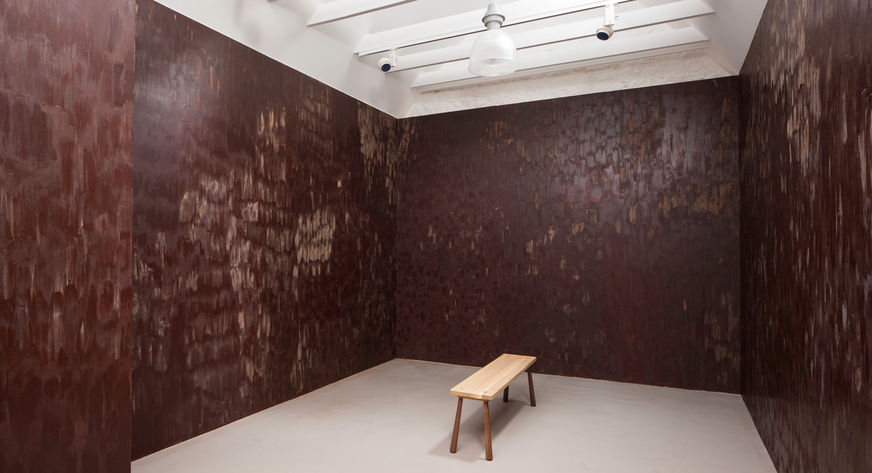 Edible Dark Chocolate Room by Anya Gallaccio | Yellowtrace