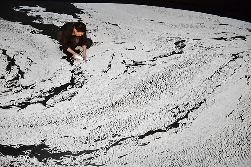 Motoi Yamamoto Floating Garden & Labyrinth Salt Aigues Mortes | Yellowtrace
