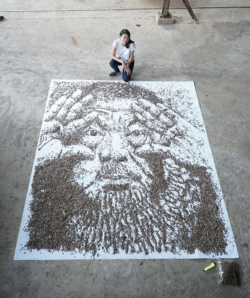 Red Hongyi 20000 Seeds Ai Weiwei Portrait | Yellowtrace