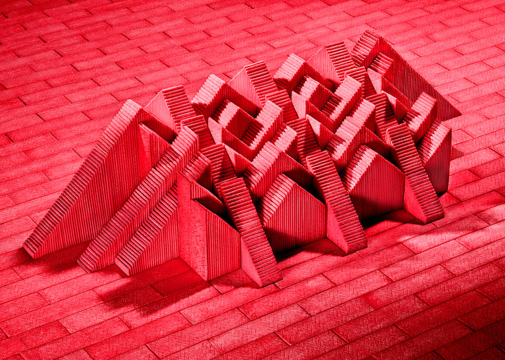 Sam Kaplan's Architectural Arrangements Made With Slices of Gum | Yellowtrace