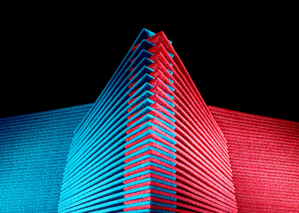 Sam Kaplan's Architectural Arrangements Made With Slices of Gum   Yellowtrace