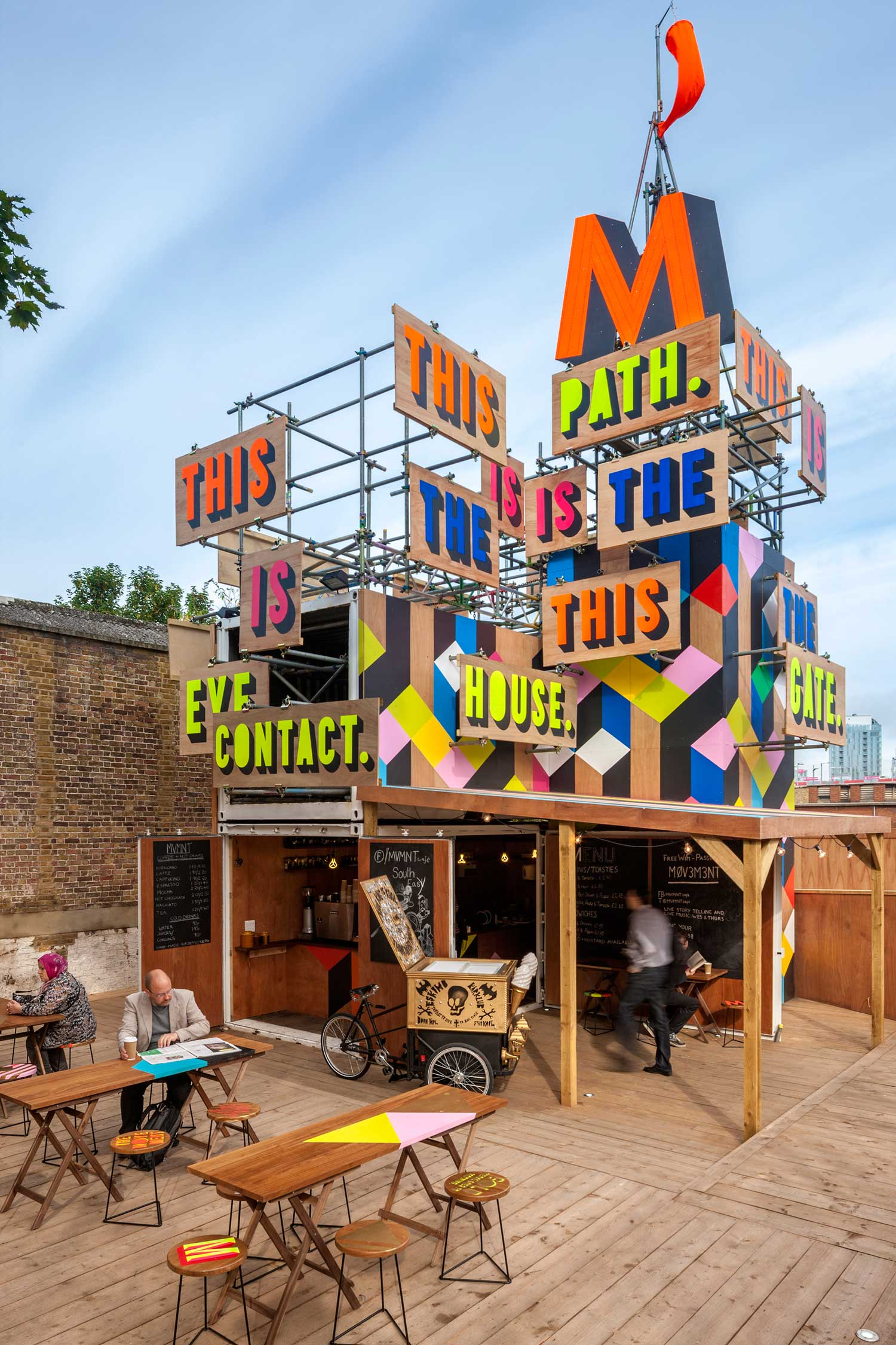 The Movement Cafe by Morag Myerscough | Yellowtrace