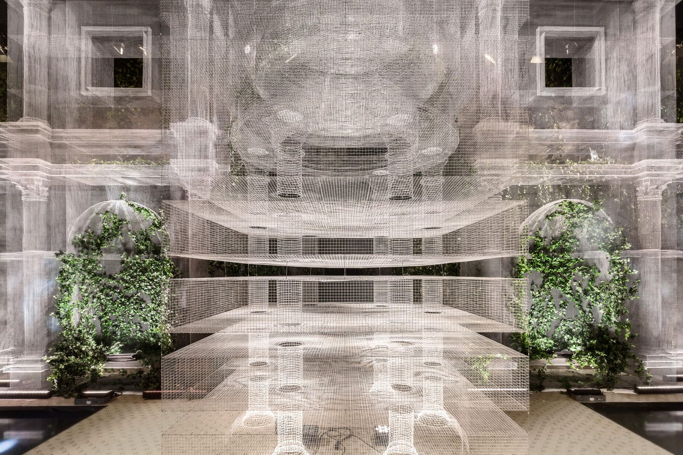 Wire Mesh Installation by Edoardo Tresoldi | Yellowtrace