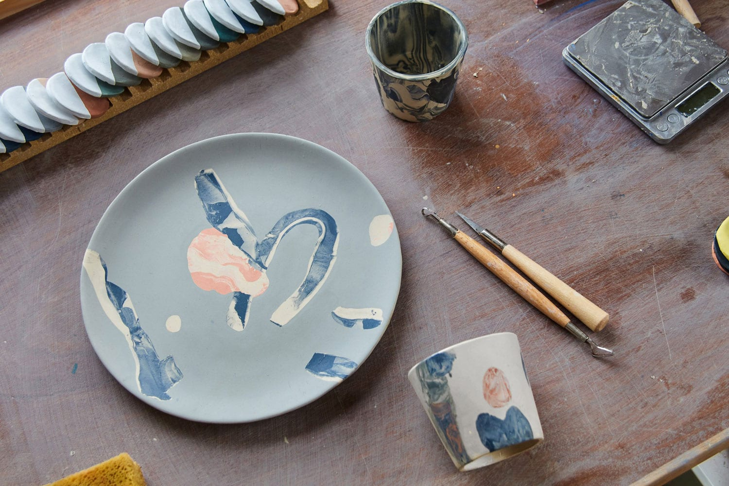 Assemble Coloured Clays to Create Splatware Products | Yellowtrace