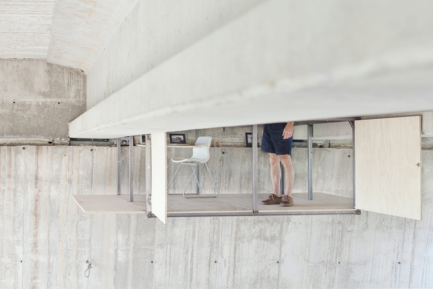 Fernando Abellanas Designs Secret Studio Under Bridge in Spain | Yellowtrace