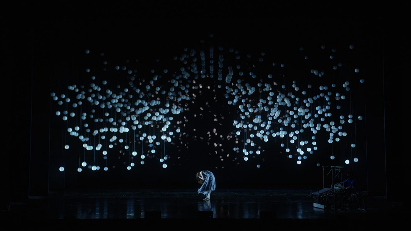 "Hypnotic Kinect Light Installation for ""Weaving Machine"" Dance Performance in Beijing, China 