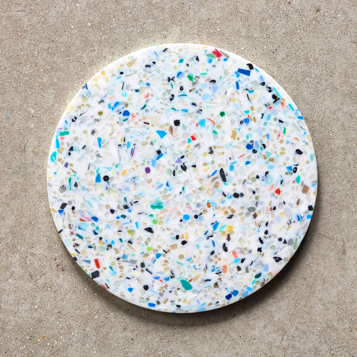 Ocean Terrazzo with Waterfall Installation by Brodie Neill | Yellowtrace
