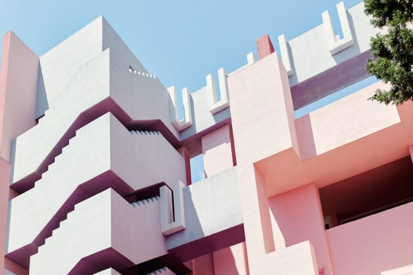 Ricardo Bofill's Red Wall (La Muralla Roja) Housing Project in Calpe, Spain | Yellowtrace