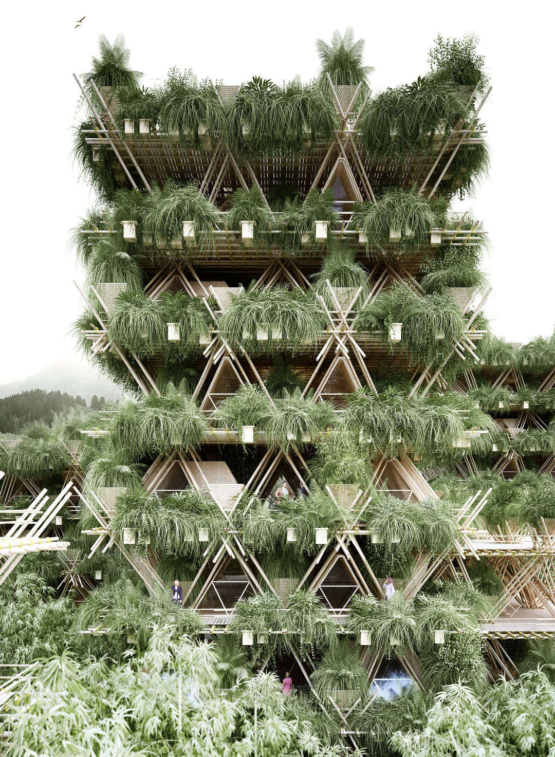 Rising Canes Pavilion in Beijing, China by Penda | Yellowtrace