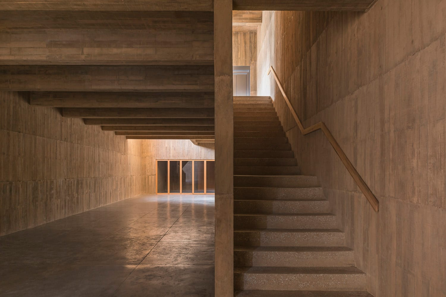 PRODUCTORA's Monolithic Cultural Center in Mexico Built from Pigmented Concrete, Clay, Bricks & Timber | Yellowtrace