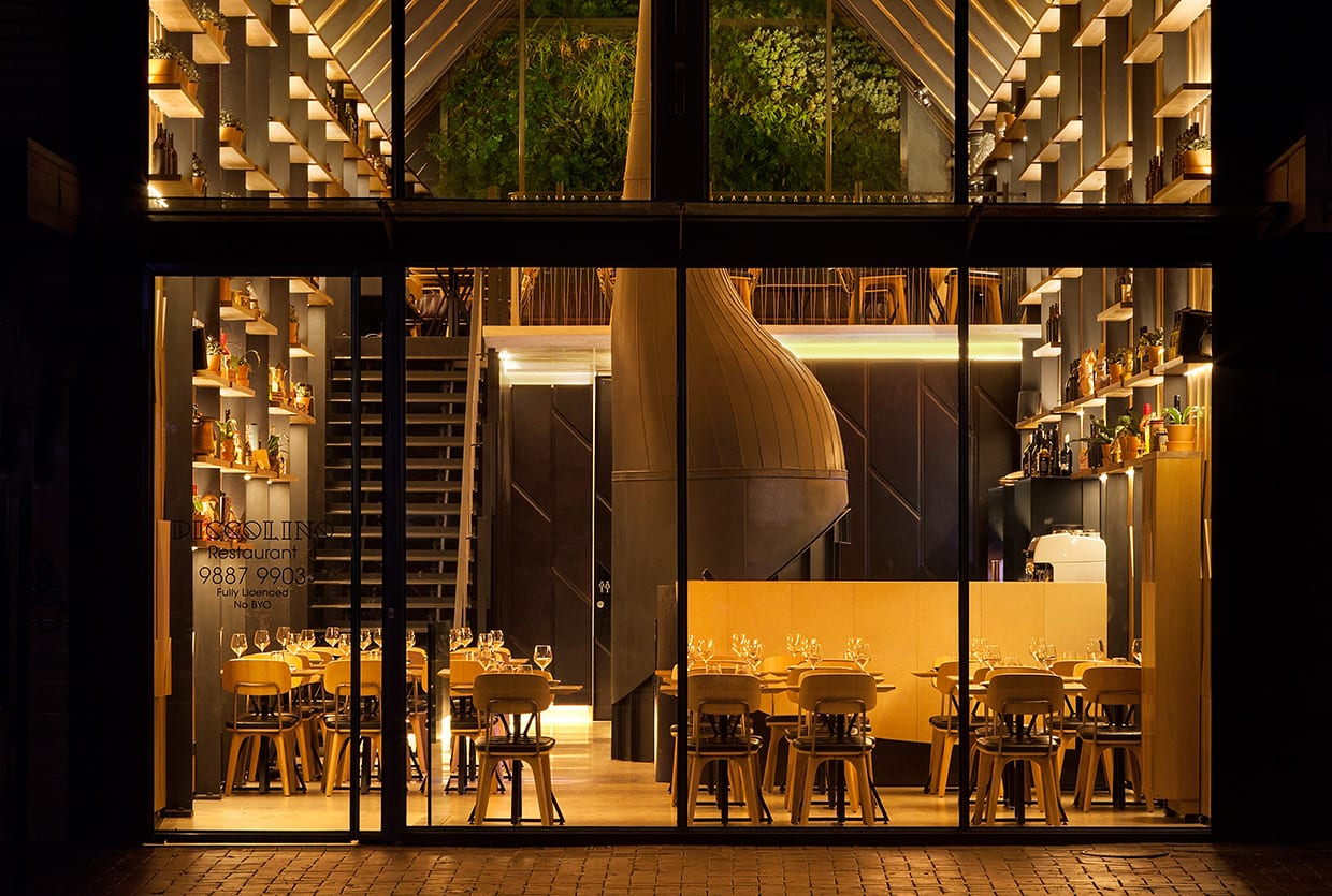 Piccolino Pizzeria in Mount Waverley, Melbourne by Hachem Architecture | Yellowtrace