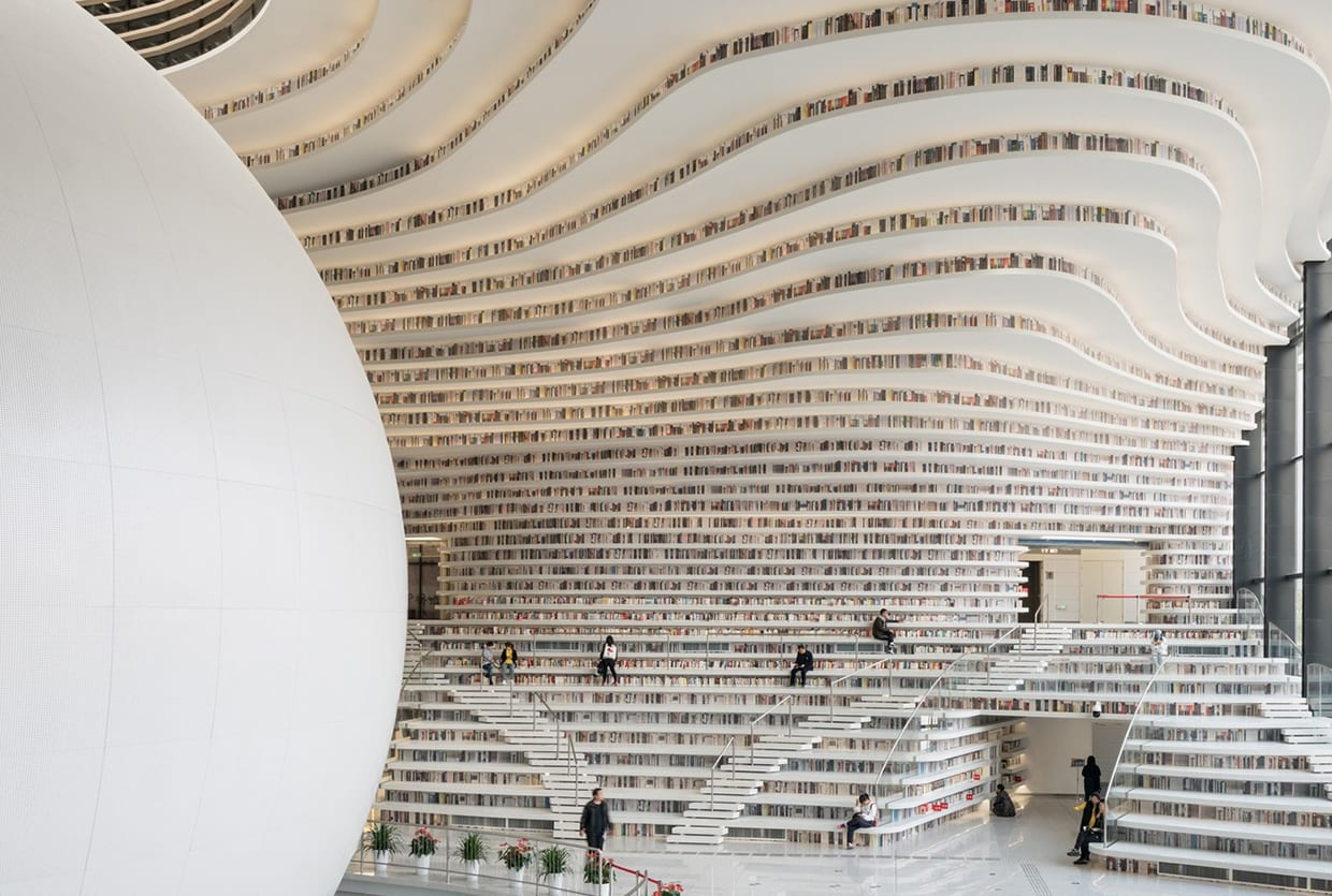 Tianjin Binhai Library in China by MVRDV with TUPDI | Yellowtrace