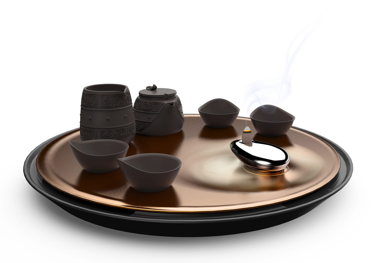 Eternity On The Desert Tea Set by Mutuopia at Salone Satellite Shanghai 2017 | Yellowtrace