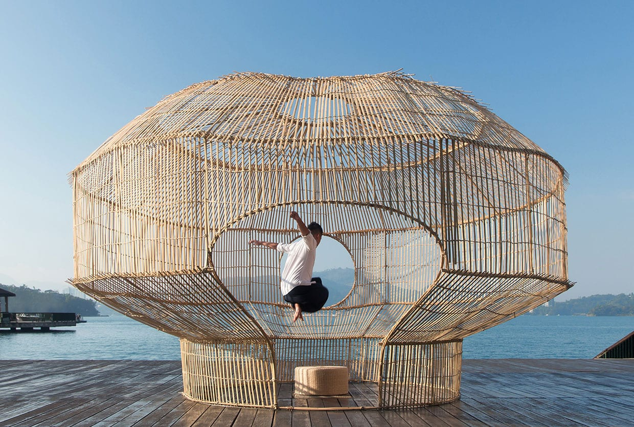 Fish Trap Bamboo House In Taiwan By Cheng Tsung Feng
