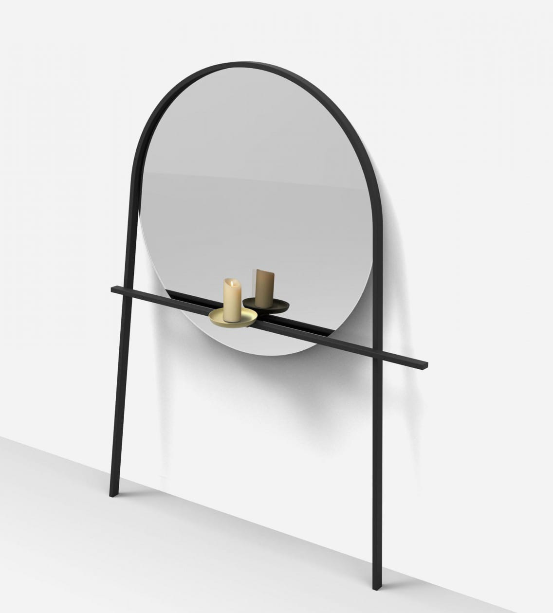 Geoffrey mirror by alain gilles for ligne roset at maison objet 2018 yellowtrace