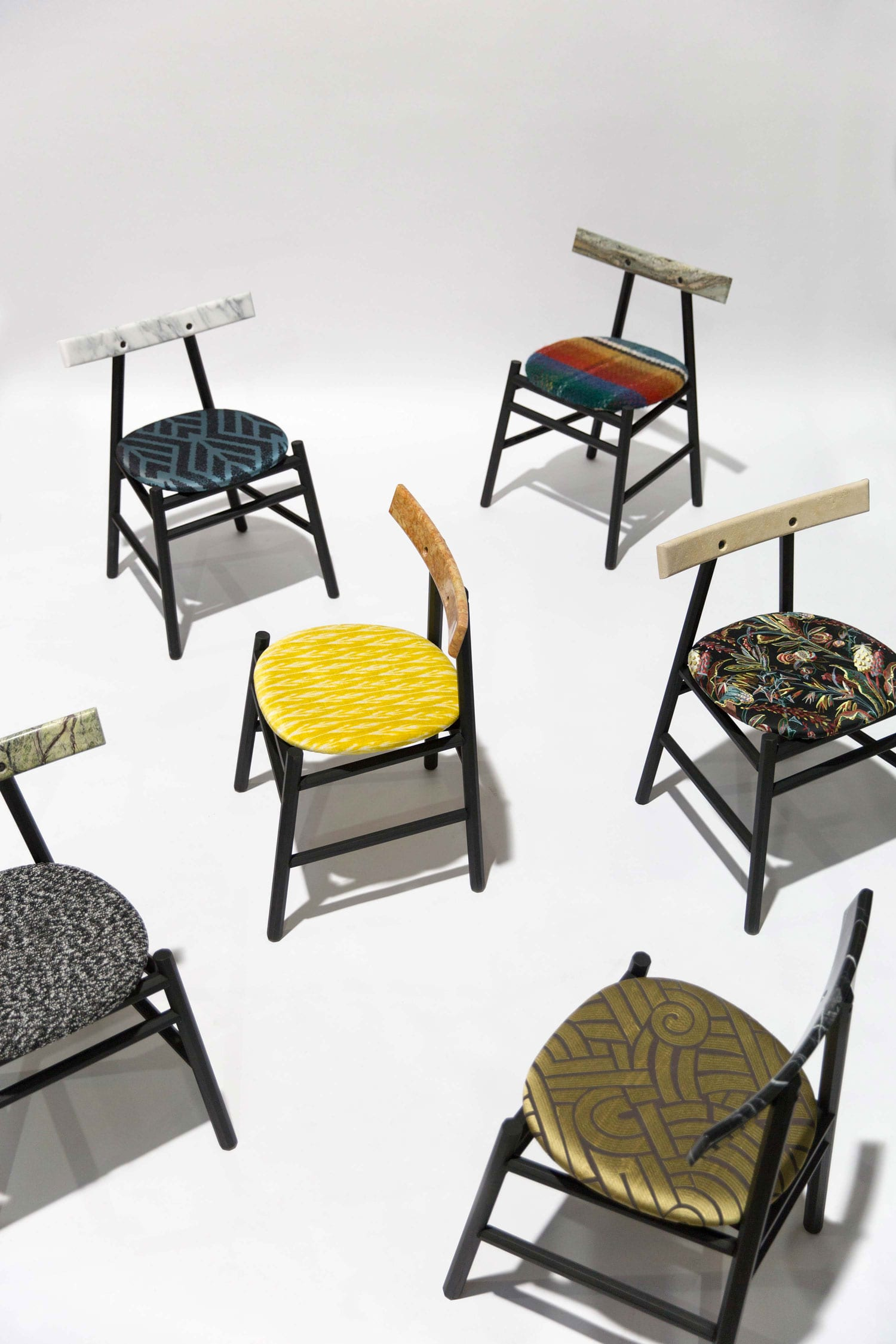 Limited Edition 6 Chairs by La Chance & Pierre Frey at Maison & Objet 2018 | Yellowtrace