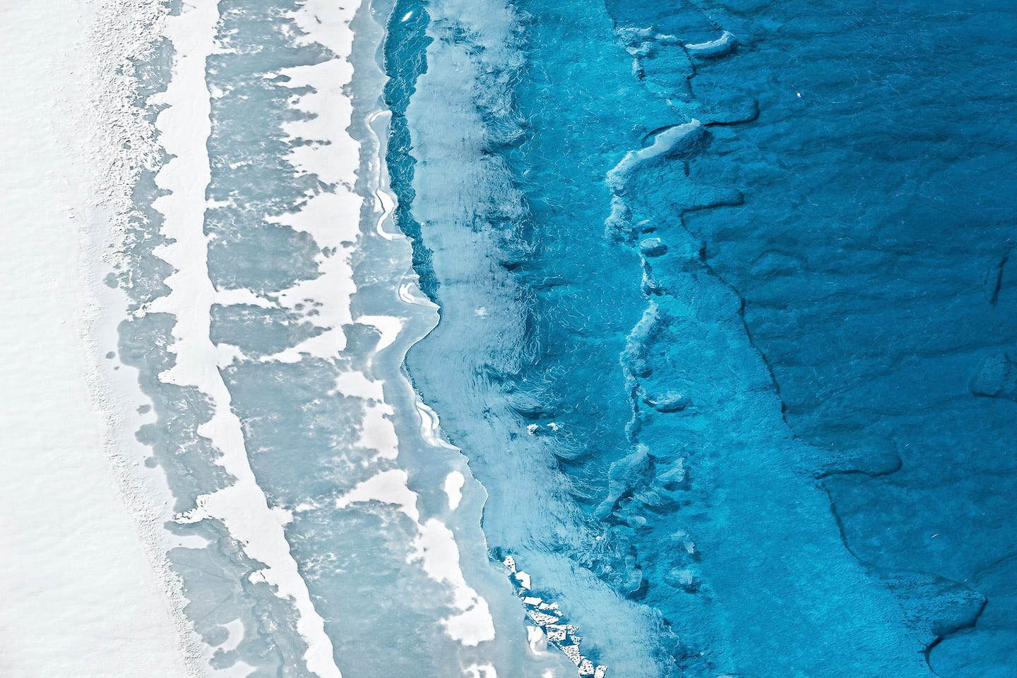 Melting Greenlandic Aerial Patterns by Daniel Beltra | Yellowtrace