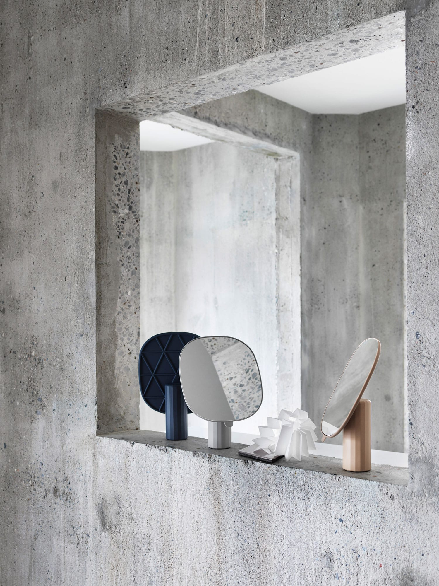 Mimic Mirror by Normal Studio for Muuto at IMM Cologne 2018 | Yellowtrace