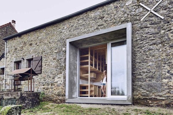 An Old Barn in Lormes, France Transformed Into a Contemporary Country House by Frank Minnaërt | Yellowtrace