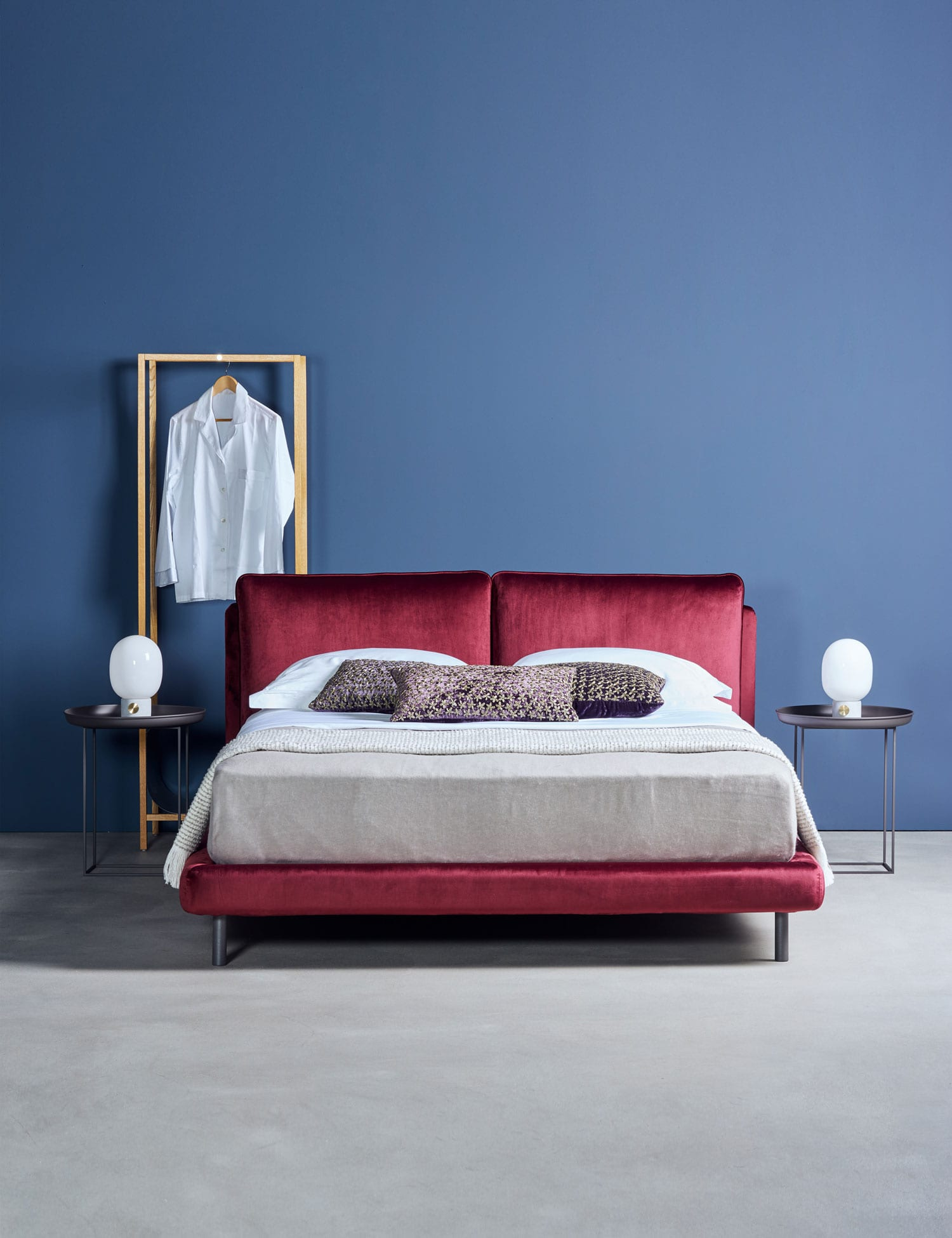 Ono Bed by Sebastian Herkner for Schramm Werkstatten at IMM Cologne 2018 | Yellowtrace