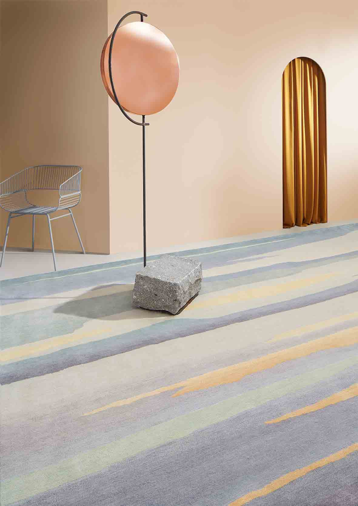 Seascape Rug, Horizons Collection for Deirdre Dyson Carpets at Maison & Objet 2018 | Yellowtrace