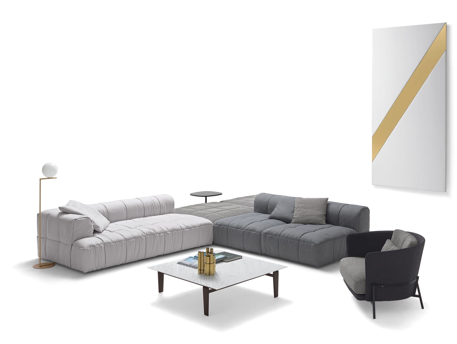 Strips Sofa by Cini Boeri for Arflex at IMM Cologne 2018   Yellowtrace
