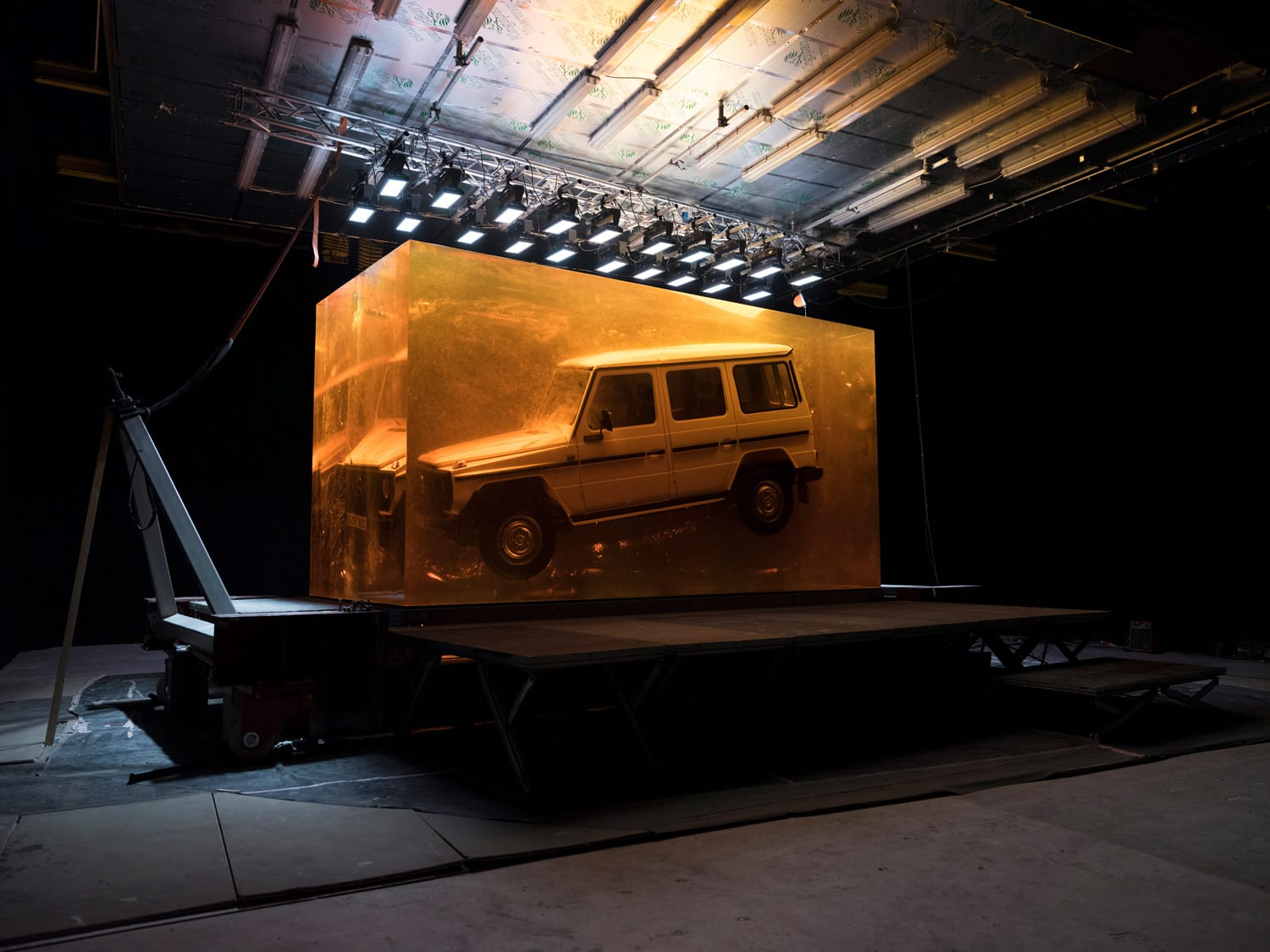 1979 G-Class Mercedes Cast in 40,000 Kilograms of Resin | Yellowtrace