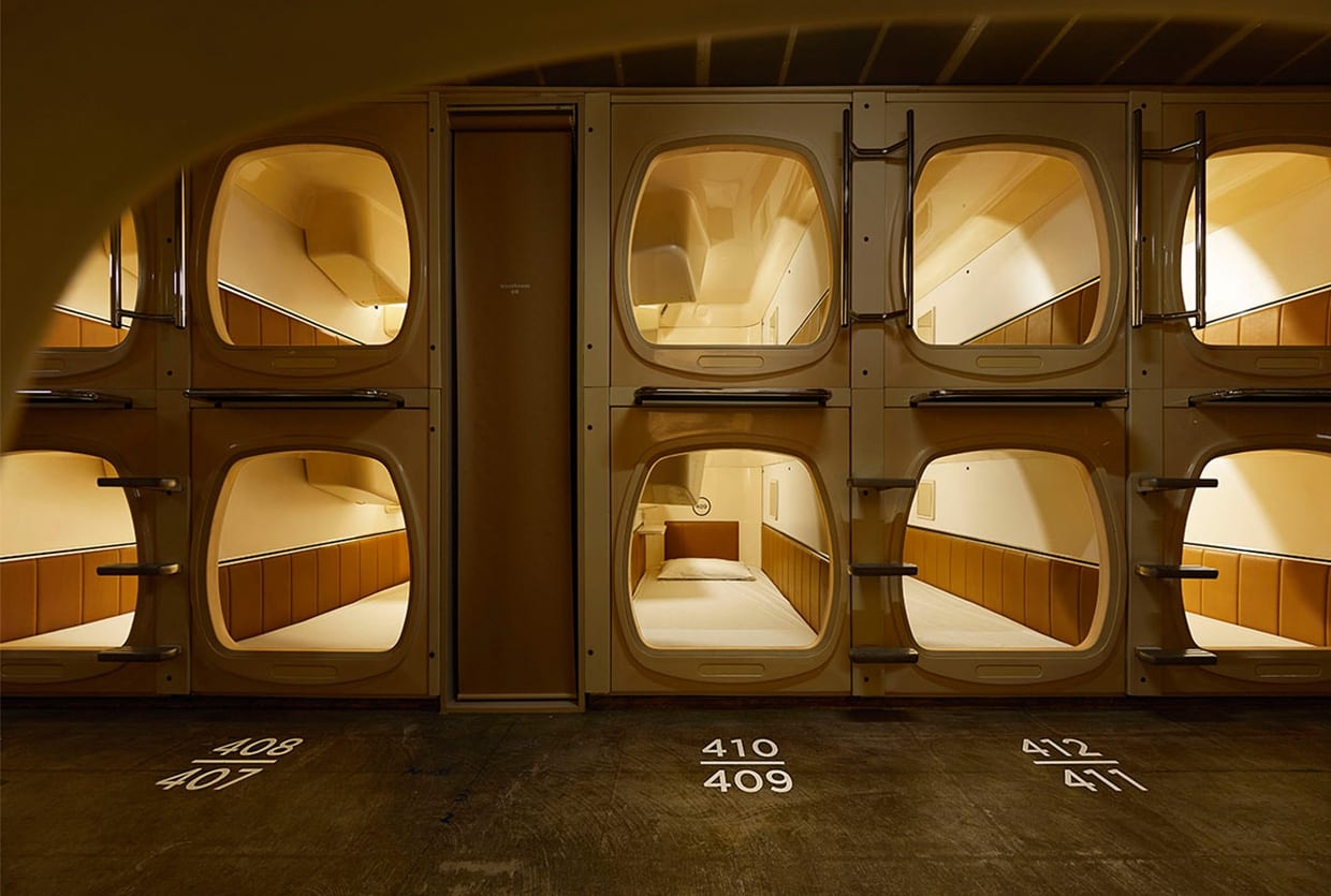 Do c ebisu tokyo capsule hotel renovation by schemata for Design hotel japan
