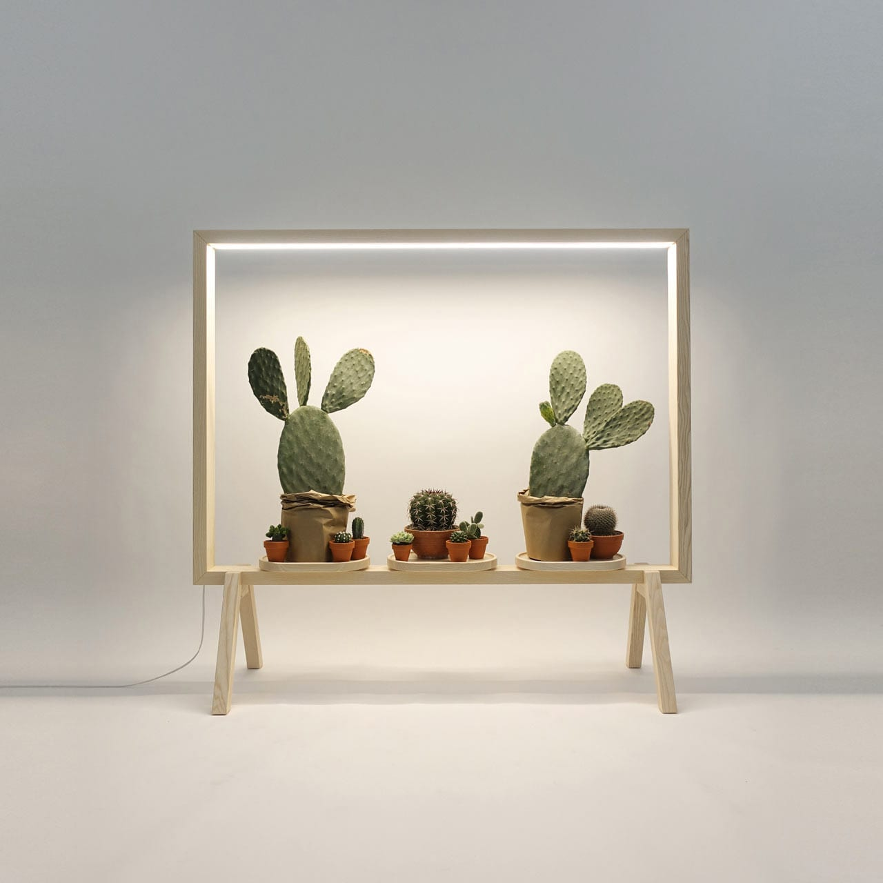 GreenFrame Johan Kauppi Illuminated Frame for Potted Plants at Stockholm Furniture Fair 2018 | Yellowtrace