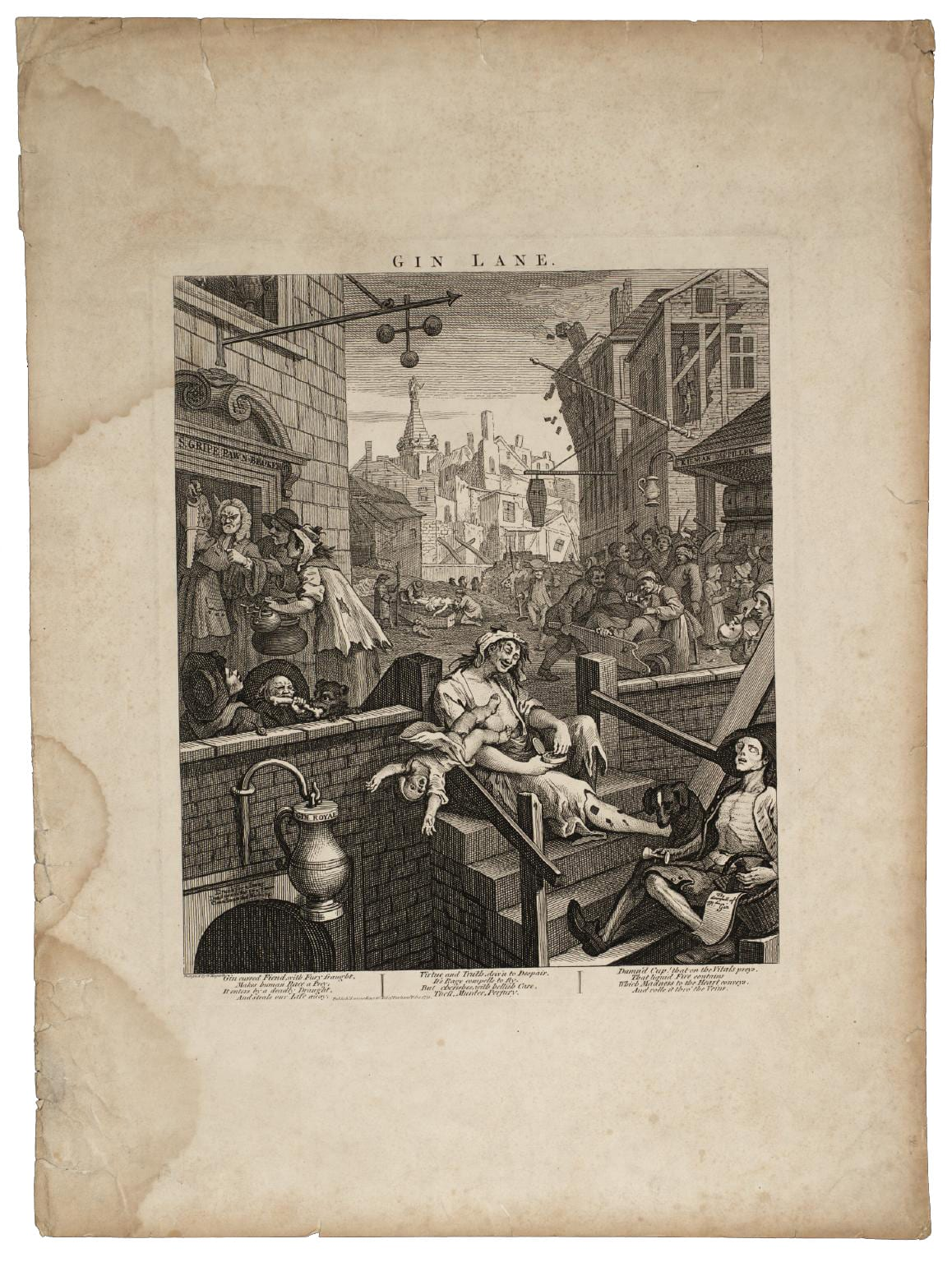 Gin Lane William Hogarth Kevin Carmody | Yellowtrace