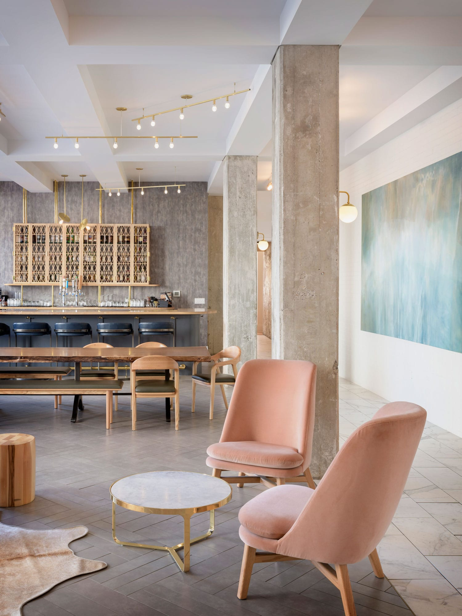 Hi-Lo Hotel Lobby in Portland, Oregon by Jessica Helgerson | Yellowtrace