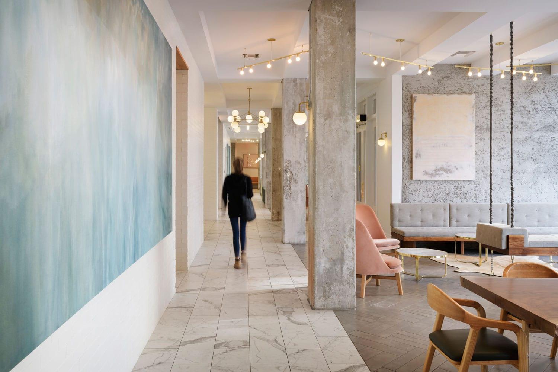 Hi-Lo Hotel Lobby in Portland, Oregon by Jessica Helgerson | Yellowtrace
