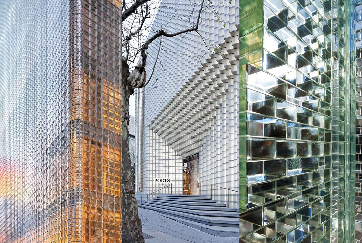 Return of Glass Block Architecture Trend, Curated by Yellowtrace.