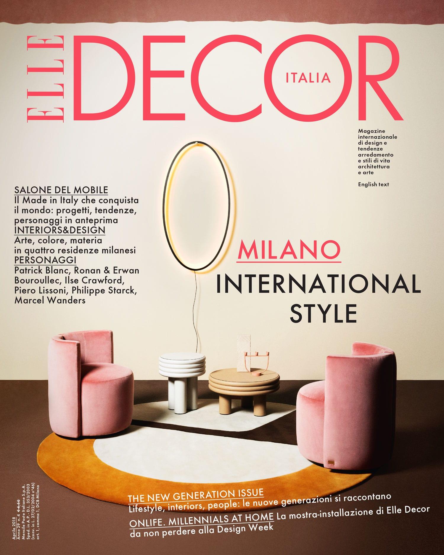 Elle Decor Italia April 2018 Salone del Mobile Special Issue Featuring Dana Tomic Hughes | Yellowtrace