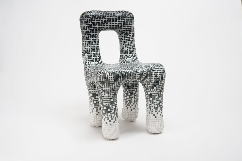 Ventura Future, Gradient Tiles Chair by Philipp Adustz, Milan Design ...