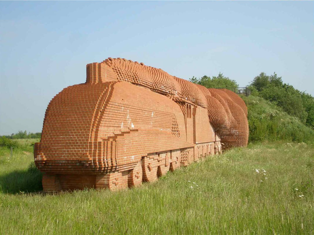 Brick Train Darlington by David Mach | Yellowtrace