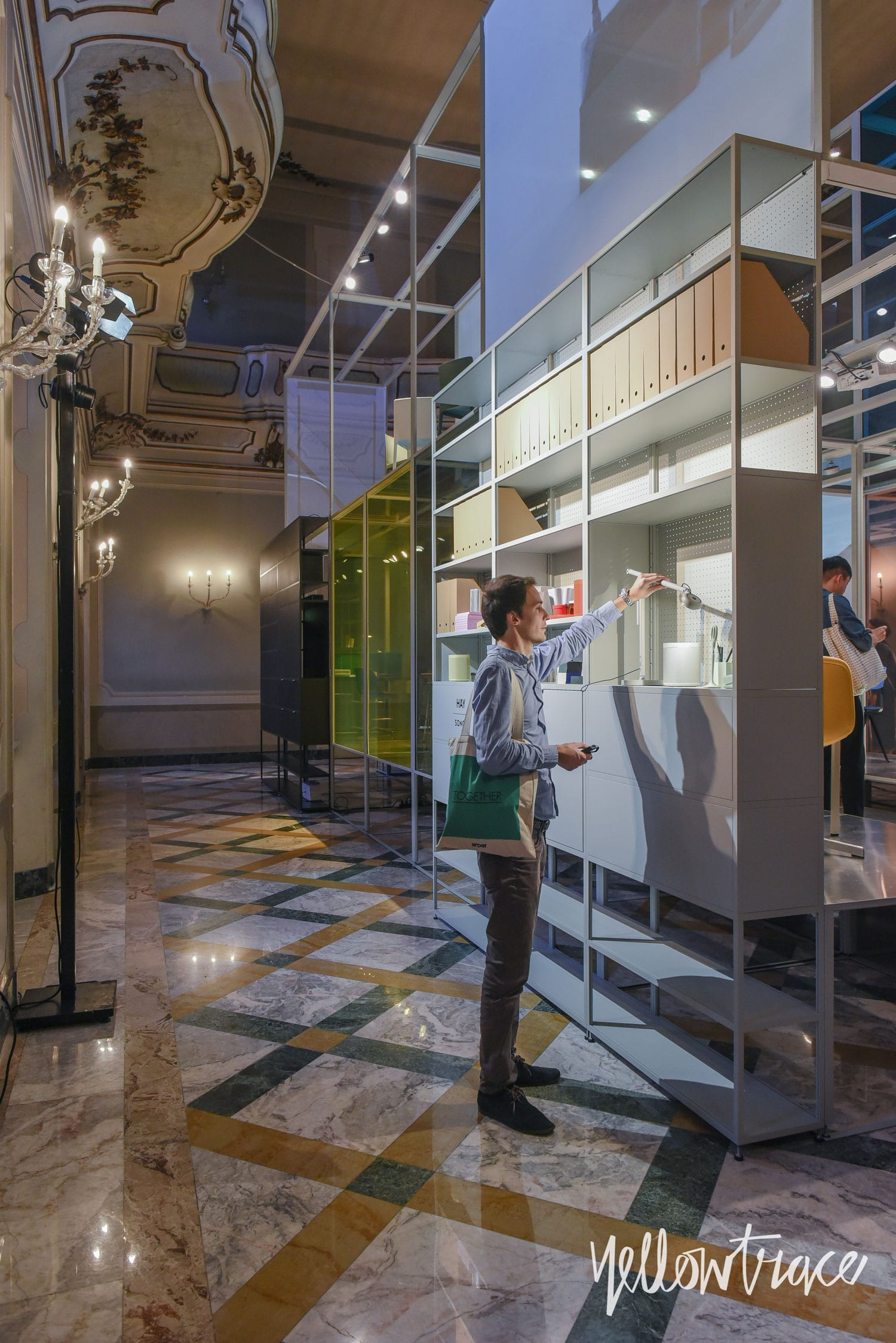 Milan Design Week 2018 Highlights, HAY x SONOS x WeWork installation at Palazzo Clerici. Photo © Nick Hughes | #Milantrace2018