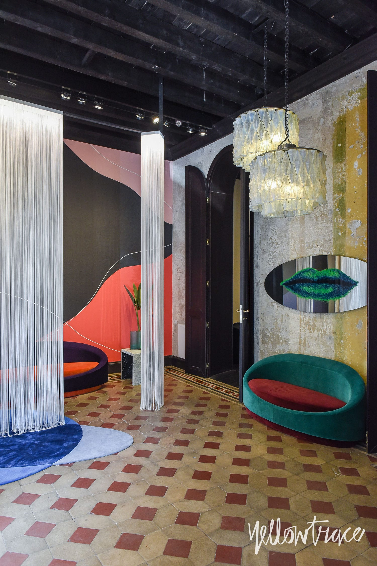 Milan Design Week 2018 Highlights, Texturae set up a 70s-style club art-directed by Chiara Andreatti with Paradisoterrestre. Photo © Nick Hughes | #Milantrace2018
