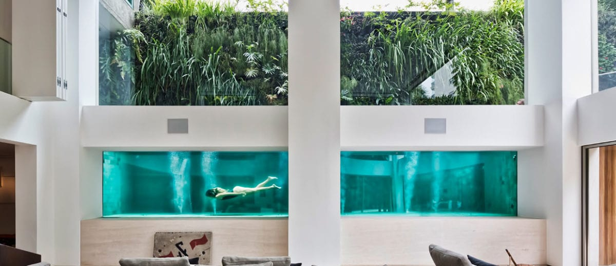 Residential Swimming Pool Acts as an Art Installation in São Paulo Home by Fernanda Marques Architects | Yellowtrace