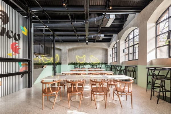 'Cucurico' Churrasqueira in LxFactory Complex in Alcântara, Lisbon by DC.AD. | Yellowtrace