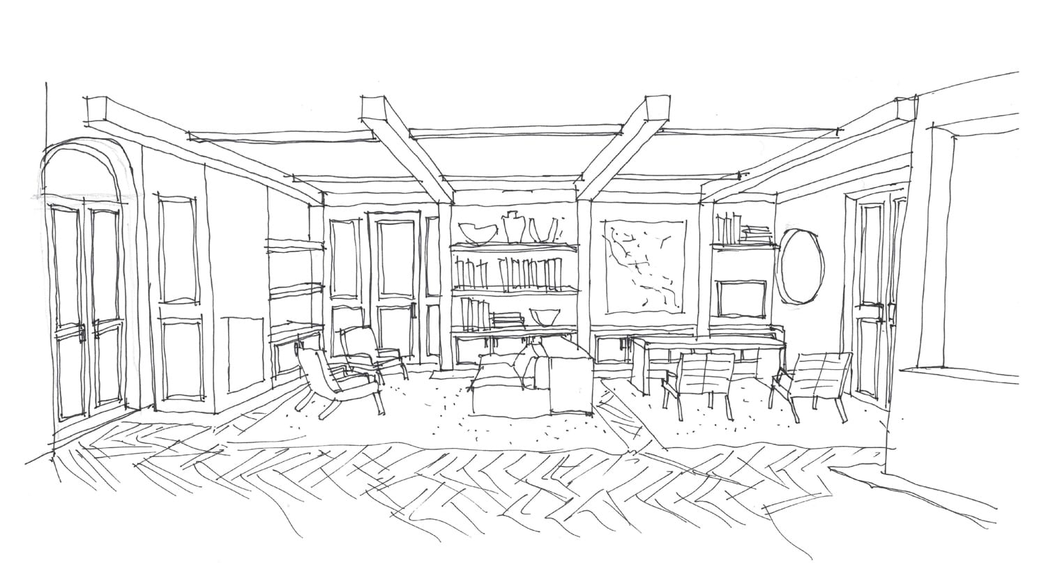 Coastal House Sketch by Decus Interiors | Yellowtrace