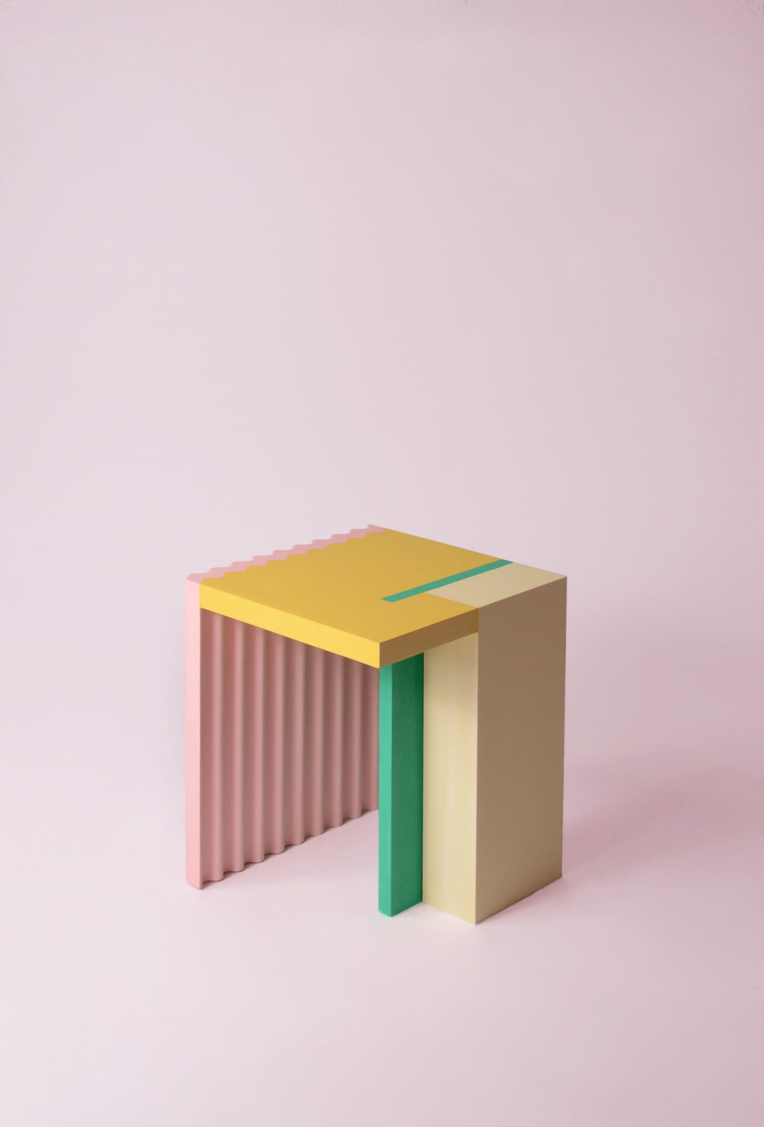 Colourful geometric small furniture pieces by antwerp based nortstudio yellowtrace