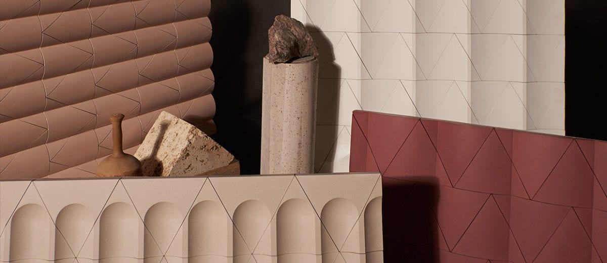 Flutes & Reeds Cast Concrete Tiles by GRT Architects for Kaza Concrete | Yellowtrace