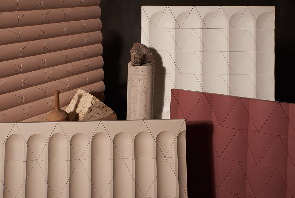 Flutes & Reeds Cast Concrete Tiles by GRT Architects for Kaza Concrete | Yellowtrace