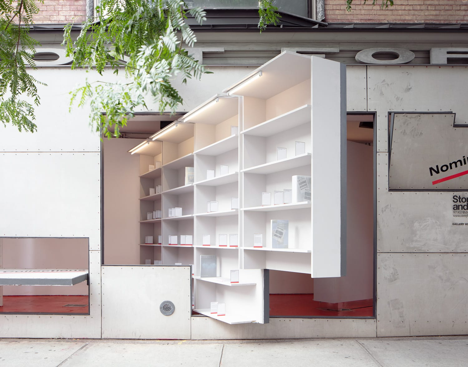 Storefront Library Installation in NYC by Abruzzo Bodziak Architects | Yellowtrace