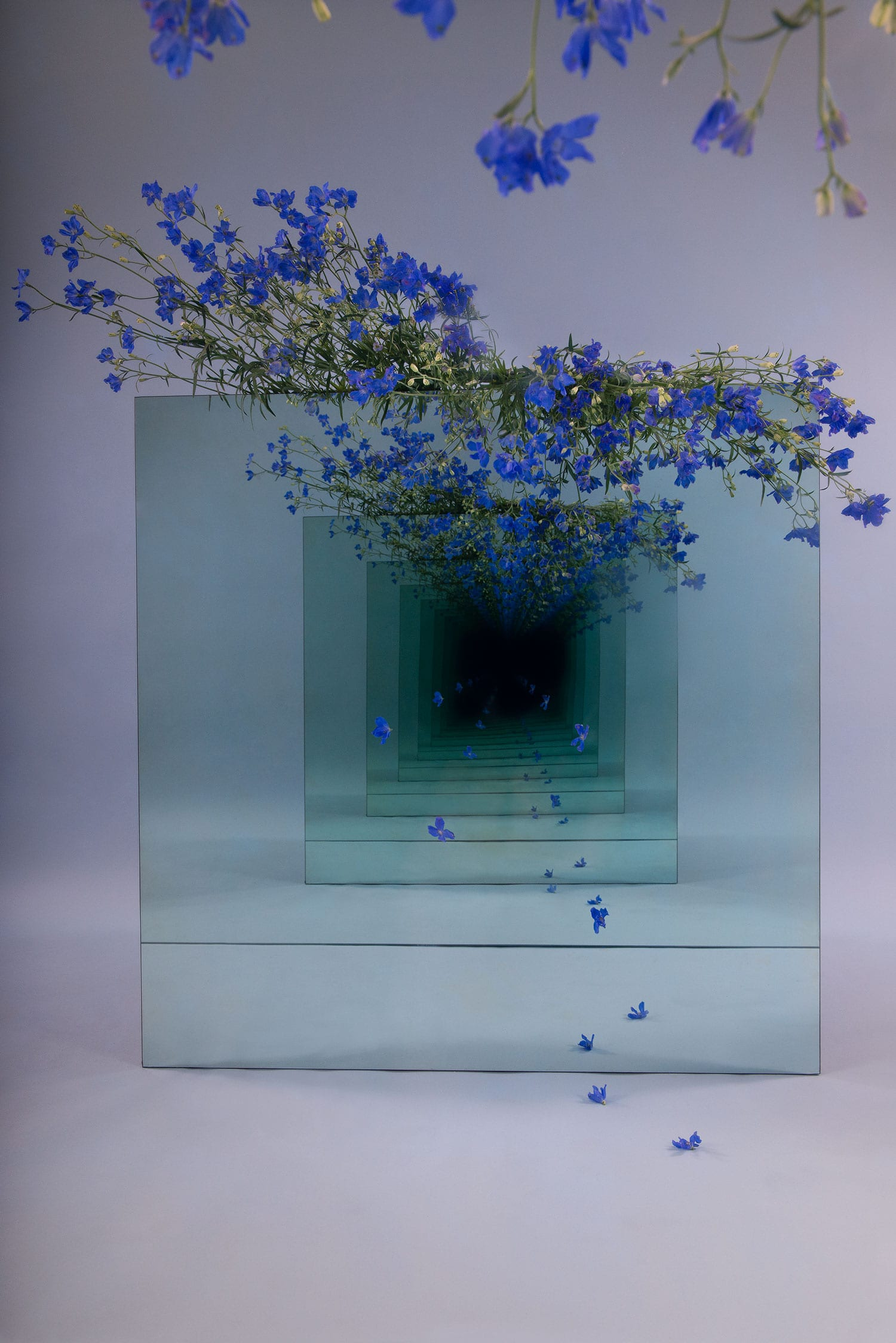 Infinite Mirrored Tunnel Installations by Sarah Meyohas | Yellowtrace